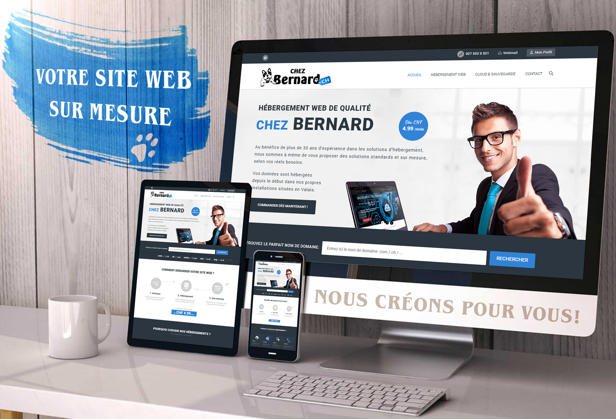 Nos créations de sites web – Clé en main