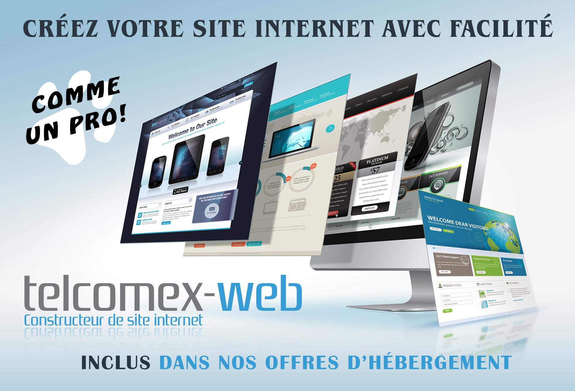 Telcomex-web créateur de site (inclus)